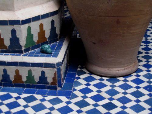Mouette au pied de la fontaine